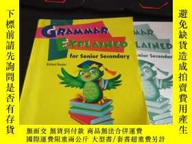 二手書博民逛書店Grammar罕見explained for senior se