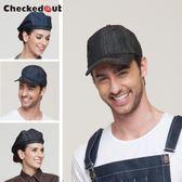 男女酒店服務員廚房 貝雷 棒球 牛仔 廚師帽 DA3963『黑色妹妹』