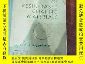 二手書博民逛書店CHEMICAL罕見ANALYSIS OF RESIN-BASED COATING MATERIALS 樹脂基塗料