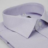 【金‧安德森】紫色細格紋窄版短袖襯衫
