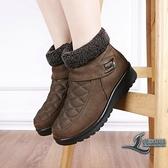 雪靴冬季加厚保暖寬松大碼女棉鞋防滑底雪地靴媽媽鞋【邻家小鎮】