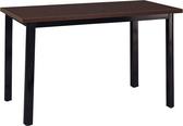 HY-Y332-7  4X2.5尺鐵刀木餐桌(木心美耐板面/通用扇型管桌腳/烤黑)