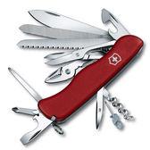VICTORINOX 瑞士維氏 21用工作冠軍安全鎖防滑瑞士刀-紅