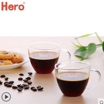 玻璃杯套裝歐式家用帶把玻璃水杯透明耐熱咖啡杯簡約創意杯子
