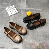 日系洛麗塔厚底女鞋可愛圓頭娃娃鞋學院風小皮鞋【聚可愛】