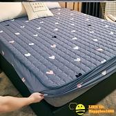 單件夾棉雙人床包 隔尿防水床包防滑固定加厚床墊防塵保護套【happybee】