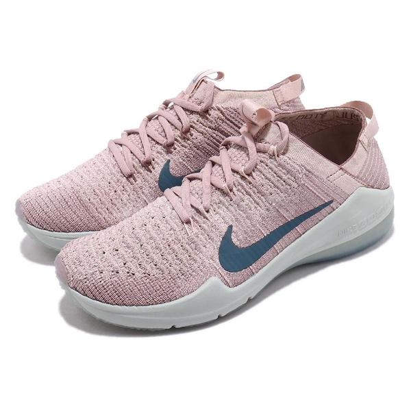 Nike 訓練鞋 Wmns Air Zoom Fearless FK 2 粉紅 藍 飛線編織 女鞋 運動鞋 【PUMP306】 AA1214-242