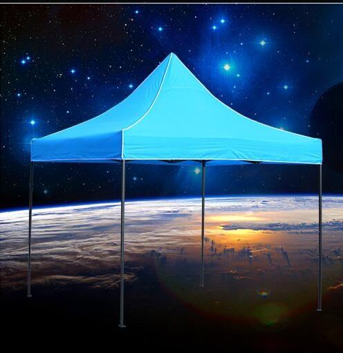 戶外遮雨棚廣告折疊帳篷印字伸縮大傘四腳遮陽棚雨篷車棚擺亭陽台(2.5*2.5雙層)