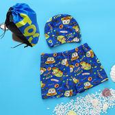 優惠快速出貨-兒童寶寶泳衣男童平角溫泉泳褲泳裝可愛卡通泳裝