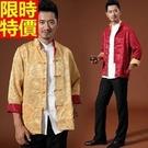 唐裝西裝外套中式男裝(單上衣)-優質真絲休閒寬鬆春裝中山裝7色66ac29【時尚巴黎】