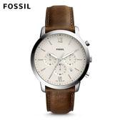 FOSSIL Neutra 清新時尚搭配款 咖啡色皮革手錶 男 FS5380