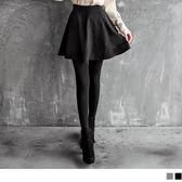 《CA627》彈性刷毛多片剪裁圓襬褲裙.2色 OrangeBear