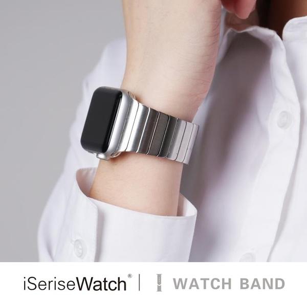 蘋果手錶替換錶帶iwatch4/3/2/1錶帶簡約鏈式錶帶【英賽德3C數碼館】
