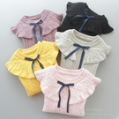 女童毛衣2020秋裝新款兒童套頭線衣女孩寶寶圓領打底衫純棉針織衫 小山好物