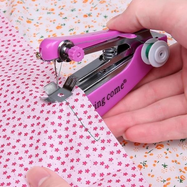 加強版迷你小型手持縫紉機家用多功能袖珍手工手動微型裁縫機 免運快速出貨