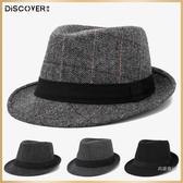 禮帽 帽子男春秋禮帽男士帽子冬戶外英倫秋冬中老年人爵士帽冬天老人帽【快速出貨】