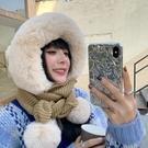帽子女冬韓版百搭圍巾圍脖一體冬季騎車保暖護耳可愛毛絨毛線帽潮 8號店