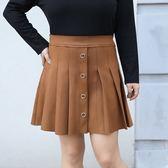 中大尺碼~氣質麂皮絨百褶裙(XL~4XL)