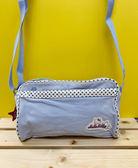 【震撼精品百貨】Hello Kitty_凱蒂貓~KITTY斜背包/側背包-藍色星星#02249