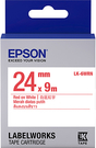LK-6WRN EPSON 標籤帶(白底紅字/24mm) C53S656402