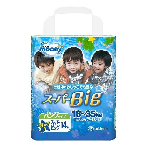 滿意寶寶 日本頂級超薄褲型男用(XXXL)(14片 x 6包/箱)