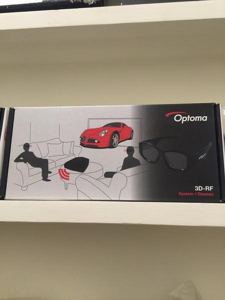 【名展影音】OPTOMA 3DRF 主動式眼鏡 立體度絕佳(拆封過,全新品未使用) 適用任一款奧圖碼投影機
