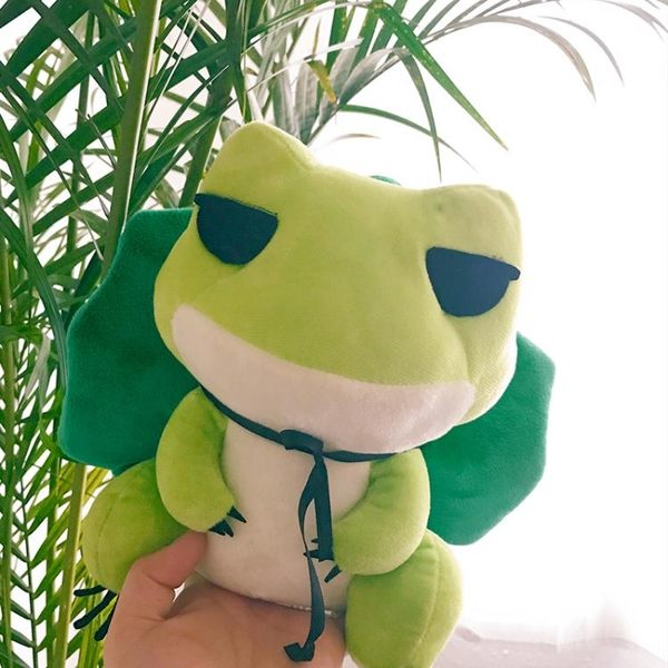 旅行青蛙兒子周邊抱枕旅行青蛙公仔毛絨玩具青蛙的旅行玩偶布娃娃igo  莉卡嚴選