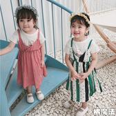 細肩帶吊帶背心裙 洋裝 連衣裙 沙灘裝 連身裙 橘魔法 Baby magic 現貨 女童