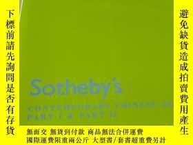 二手書博民逛書店Sotheby s罕見CONTEMPORARY CHINESE ART PART I & PART II HONG