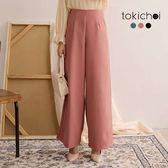 東京著衣-知性漫步多色高腰長腿後拉鍊西裝寬褲-S.M.L(190004)