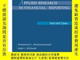 二手書博民逛書店Applied罕見Research In Financial Reporting: Text And Cases奇