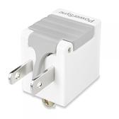 (最新安規款) PowerSync 群加 3P轉2P省力型電源轉接頭 白色 TYAB9
