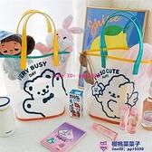 小熊果凍包可愛少女透明pvc游泳沙灘包大購物健身單肩側背包品牌【櫻桃菜菜子】