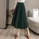 半身裙 女新款韓版百搭加厚保暖中長款純色氣質半身裙 【618特惠】