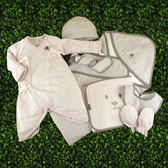 【金安德森】春夏新生兒禮盒-粉色熊熊6件組