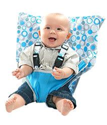 美國 My Little Seat可攜式寶寶安全椅套 水藍圈圈