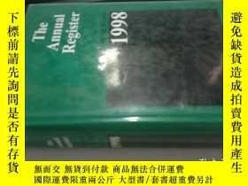 二手書博民逛書店The罕見Annual Register1998Y16149 看