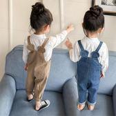 新年鉅惠兒童褲寶寶牛仔背帶褲女童裝牛仔褲子小童嬰兒春秋長褲0-1-2-3歲4 小巨蛋之家