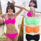 2兩件式泳衣性感海灘.素色款二件式泳裝....