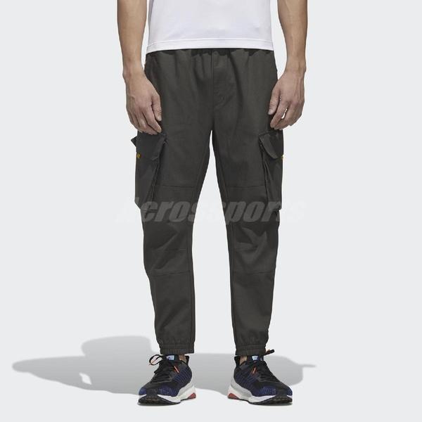 adidas 長褲 Cargo Pants 綠 黃 男款 工裝 工作褲 縮口褲 運動休閒 【ACS】 GM4436