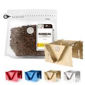 CoFeel 凱飛鮮烘豆印尼蘇門答臘黃金曼特寧中深烘焙咖啡豆半磅+收納濾泡耳掛式兩用咖啡架(SO0064S)