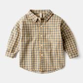 童裝男童純棉長袖襯衫兒童上衣女童格子襯衣【奇趣小屋】