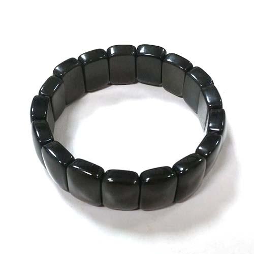 黑曜石手排彈性手環