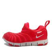 Nike Dynamo Free PS [343738-624] 中童鞋 慢跑 運動 休閒 舒適 透氣 毛毛蟲 紅白