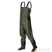 下水褲半身雨褲防水衣服男抓捕魚連體全身漁皮叉褲子加厚水庫套裝 伊衫風尚