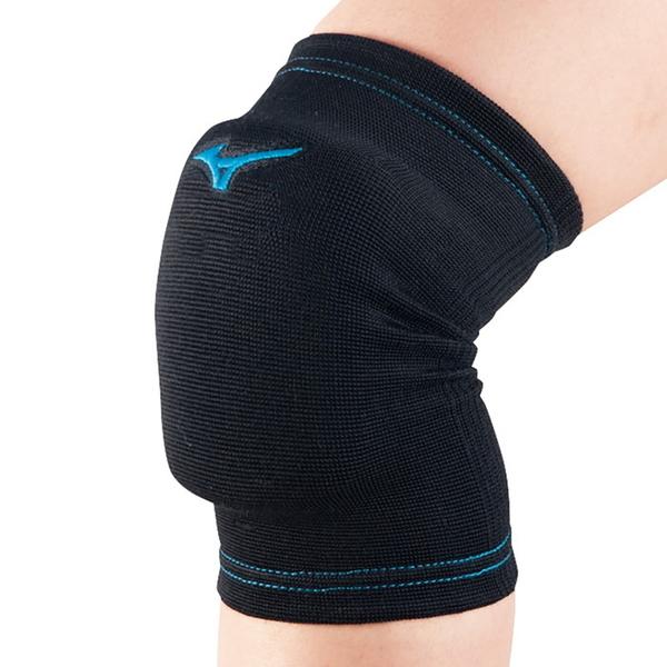 (B3) MIZUNO 美津濃 少年用 排球用護膝 一雙 V2MY801192 黑藍 [陽光樂活]