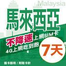 【TEL25】馬來西亞上網卡 7日 不限流量不降速 4G上網 吃到飽上網SIM卡