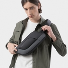 肩背包/胸包滌綸-黑灰-輕量科技 男包 情人節生日禮物【ARSIM愛型包包】