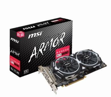 MSI 微星 RX 580 ARMOR 8G OC 電競巧虎(1366MHz/智慧停轉/26.9cm/註冊四年)【刷卡含稅價】