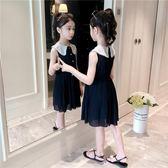 女童連身裙2019新款夏裝兒童洋氣公主裙小女孩背心雪紡中大童裙子